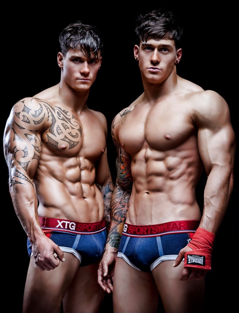 6 pack abs muscle tattoo twins sexy guys gym gloves1 783x1024 6 Pack Abs, Tats, and Muscle! | ProGrips™ Fit Guys